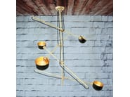 Handmade brass chandelier KINGSTON CONTEMPORARY CHANDELIER - Mullan Lighting