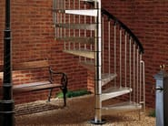 Outdoor steel Spiral staircase KLIO ZINK - Fontanot Spa