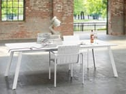 Rectangular aluminium dining table KONIC - solpuri