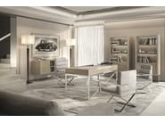 Rectangular solid wood writing desk with drawers KUPER - Capital Collection by Atmosphera