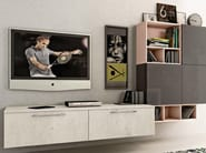 Sectional wall-mounted storage wall KYRA LIVING - CREO Kitchens by Lube