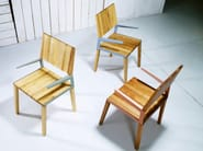 Solid wood chair with armrests L | Chair - HOOKL und STOOL