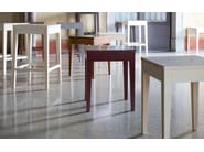 Low beech stool LA LOCANDA | Low stool - Calligaris