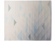 Handmade rug with optical pattern LAKE GREY - Golran