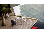 Stackable aluminium chair with armrests LANDI - Vitra