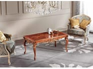 Low rectangular solid wood coffee table LAWRENCE | Coffee table - Arvestyle