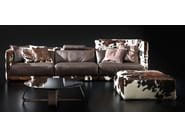 Contemporary style sectional upholstered modular leather sofa LAYER | Leather sofa - ITALY DREAM DESIGN - Kallisté