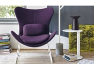 Sled base wingchair LAZY | Sled base armchair - Calligaris