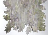 Handmade wool felt rug LEAF CUT RECYCLED WOOL - Ronel Jordaan™