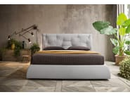 Fabric double bed with upholstered headboard LENNY - Felis