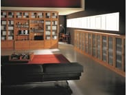 Modular solid wood bookcase MODULO '900 | Modular bookcase - Morelato