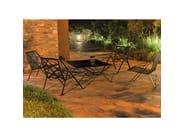 Sedia da giardino in metallo con schienale alto con braccioli LINE | Sedia da giardino - Efasma
