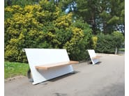 Bench with back steel LINEA ACCIAIO - LAB23 Gibillero Design Collection