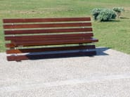 Bench with back Wood LINEA LEGNO - LAB23 Gibillero Design Collection