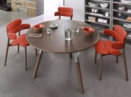 Round wooden table LINK | Table - Varaschin