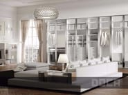 Sectional glass wardrobe with sliding doors LIRA TRANSPARENTE - Doca