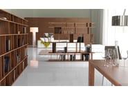 Open walnut bookcase LOFT - Cattelan Italia