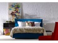 Double bed with upholstered headboard LOFT - Schramm Werkstätten