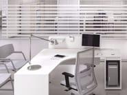 L-shaped office desk with shelves LOGIC | L-shaped office desk - Las Mobili