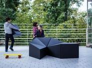 Pouf da giardino in materiale sintetico LOGIFACES - Planbureau