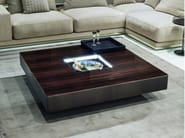 Square wooden coffee table with tray for living room LONELY - Longhi