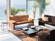 Low square glass coffee table LONGUEVILLE JR-T815 - Jori