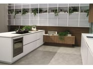 Lacquered wooden kitchen with peninsula LOOK | Lacquered kitchen - Snaidero