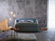 Double bed with upholstered headboard LOOP - Schramm Werkstätten
