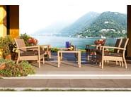 Garden armchair with armrests LOTUS | Armchair - Varaschin
