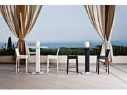 Bar stool with synthetic fiber weaving LOTUS | Counter stool - Varaschin