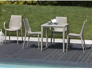Stackable polypropylene garden chair with armrests LUCREZIA | Chair with armrests - SCAB DESIGN