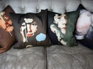 Fabric cushion LADY PEACOCK - Mineheart