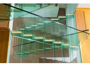 Straight U-shaped glass Open staircase LONDRA | Open staircase - Siller Treppen