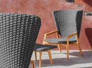 High-back wingchair KNIT | High-back garden armchair - Ethimo