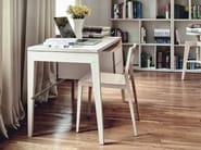 Rectangular wooden writing desk with drawers M2500 | Writing desk - MINT FACTORY