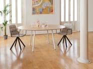 Lacquered round MDF table MAARTEN | Table - Viccarbe