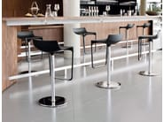 Height-adjustable polyurethane barstool with footrest MACAO | Barstool - Wiesner-Hager