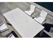Rectangular ceramic garden table MACHAR | Ceramic table - OASIQ