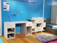 Rectangular kids writing desk with drawers MADAKET | Writing desk - Mathy by Bols