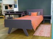 Rectangular MDF bedside table for kids' bedroom MADAVIN | Bedside table for kids' bedroom - Mathy by Bols