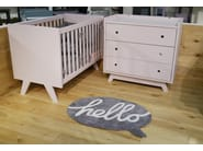 Vintage style free standing kids chest of drawers with changing table MADAVIN | Chest of drawers - Mathy by Bols