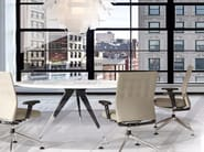 Steel and wood meeting table MADISON MEETING | Round meeting table - JOSE MARTINEZ MEDINA