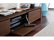 Low TV cabinet with flap doors MAG | TV cabinet - Calligaris
