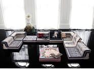 Modular fabric sofa MAH JONG COUTURE - ROCHE BOBOIS