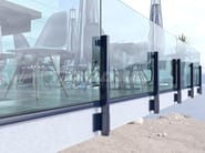 Glass and aluminium balustrade MAIOR COLORS 60 LINE - FARAONE