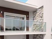 Parapetto in alluminio e vetro MAIOR COLORS ONE - FARAONE