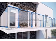 Glass and aluminium balustrade MAIOR COLORS VISION - FARAONE