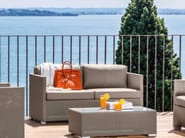 3 seater garden sofa with removable cover MAIORCA | Sofa - Talenti