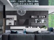 Sectional lacquered storage wall MAKE LIVING - LASA IDEA