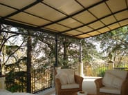 Wall-mounted iron pergola MALATESTA | Pergola - UNOSIDER